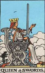 Queen of Swords (Inverse)