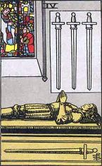 Four of Swords (Inverse)