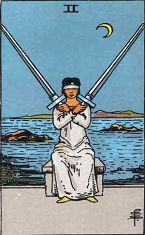 Two of Swords (Inverse)