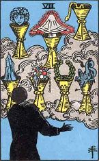Seven of Cups (Inverse)