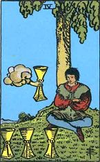 Four of Cups (Inverse)