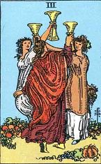 Three of Cups (Inverse)