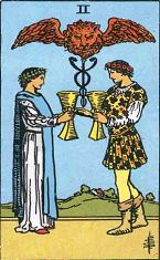 Two of Cups (Inverse)
