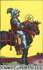 Knight of Pentacles (Inverse)