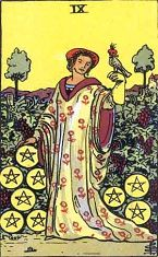 Nine of Pentacles (Positive)
