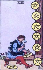 Eight of Pentacles (Inverse)