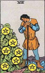 Seven of Pentacles (Positive)