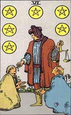 Six of Pentacles (Inverse)
