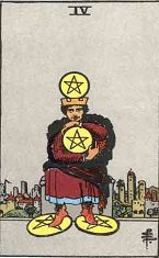 Four of Pentacles (Inverse)